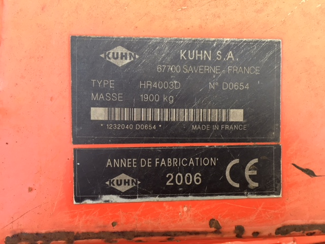Kuhn HR4003D power Harrow