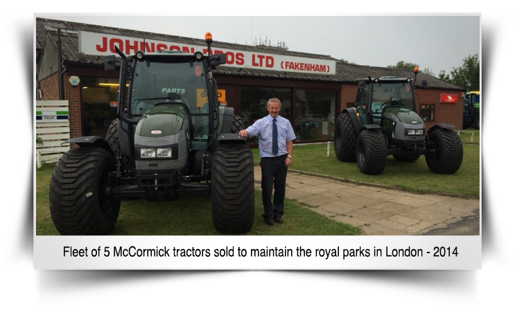 Fleet of 5 McCormick tractors sold to maintain the royal parks in London in 2014